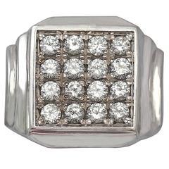 1960s Diamond & White Gold Cocktail Ring