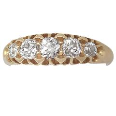 1898 Antique Diamond and Yellow Gold Five-Stone Ring