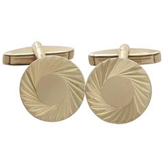 Cufflinks in 9 k Yellow Gold - Vintage 1976