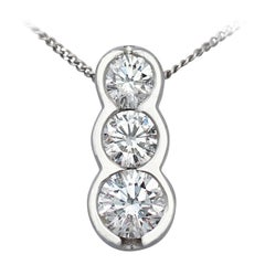Diamond Trilogy Platinum Pendant - Contemporary