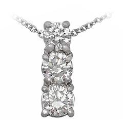 0.65Ct Diamond and Platinum Trilogy Pendant - Contemporary
