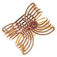 Etername for Opulent Jewelers Diamond Gold Cuff Bracelet