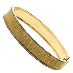 Etername for Opulent Jewelers Diamond Gold Bangle Bracelet