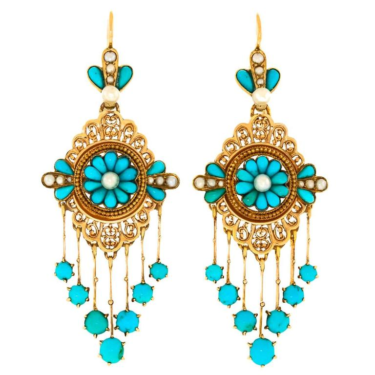Antique French Chandelier Earrings