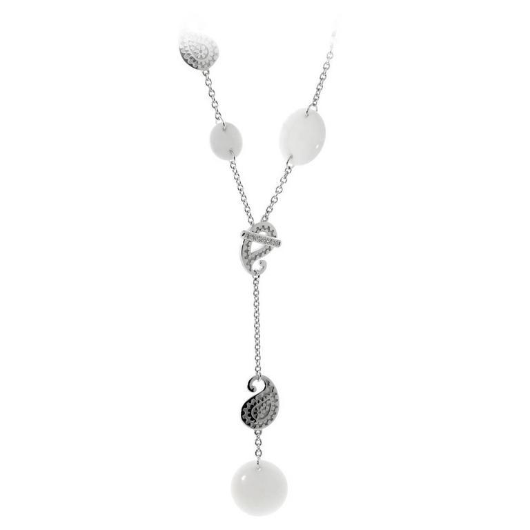 Carrera y Carrera Aquamarine Diamond Gold Lariat Necklace