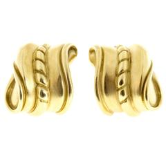 Kieselstein Cord Gold Clip Post Earrings