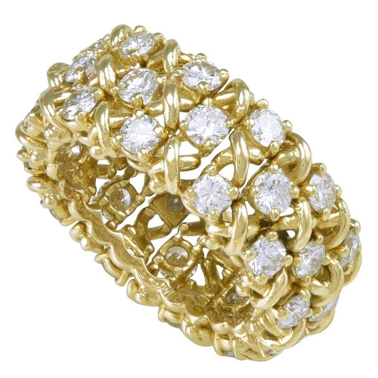TIFFANY & CO. Diamond Gold Ring For Sale