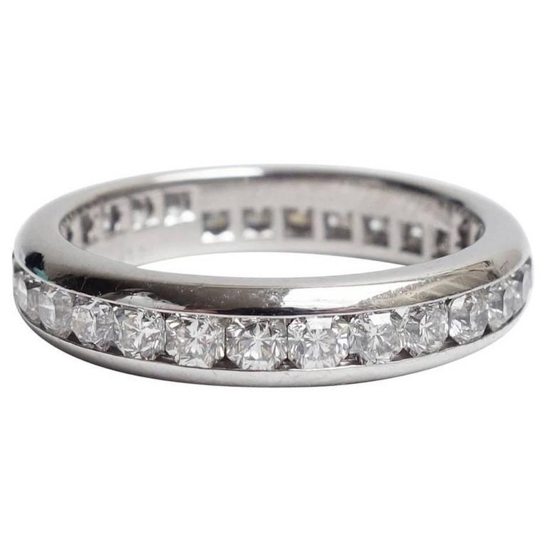 e262439ec Tiffany and Co. Lucida Diamond Platinum Eternity Band Ring For Sale ...