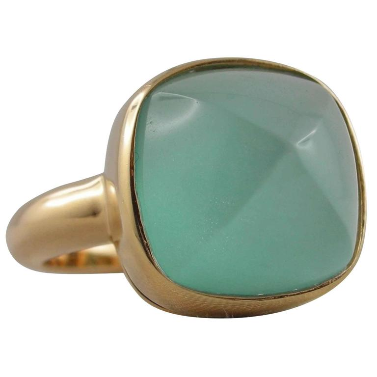 Jona Turquoise Quartz Rose Gold Ring