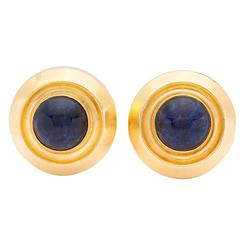 Lalaounis Sodalite Gold Earrings