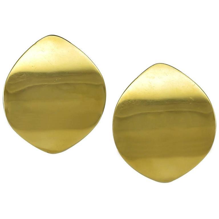 Gold Earrings by Georg Jensen