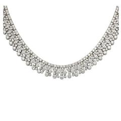 Elegant Diamond Collar Necklace set with 27 Carats Diamonds