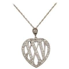 1910 Edwardian Diamond Gold Platinum 25th Anniversary Necklace