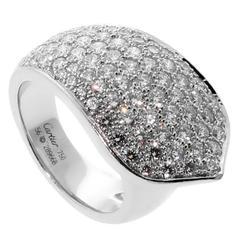 Cartier Pavé Diamond Gold Band Ring