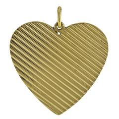 Big Beautiful Gold Heart Charm/Pendant