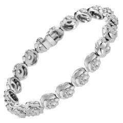 Chanel Camellia Diamond Gold Bracelet