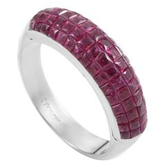 Damiani Ruby White Gold Band Ring