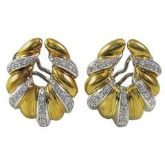 Diamond Gold Ear Clips