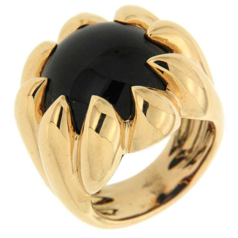 Valentin Magro Black Onyx Gold Dome Ring