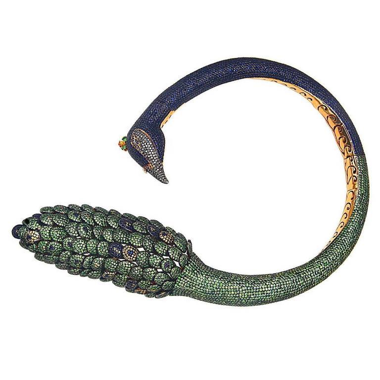 Magnificent Multi-Color Peacock Necklace
