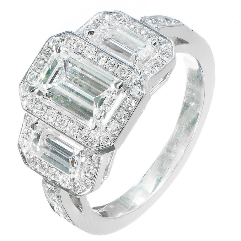Diamond Triple Halo Platinum Engagement Ring