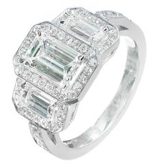Diamond Triple Halo Platinum Engagement Ring