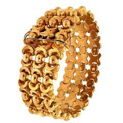 1950s Rose Gold Link Bracelet Vintage