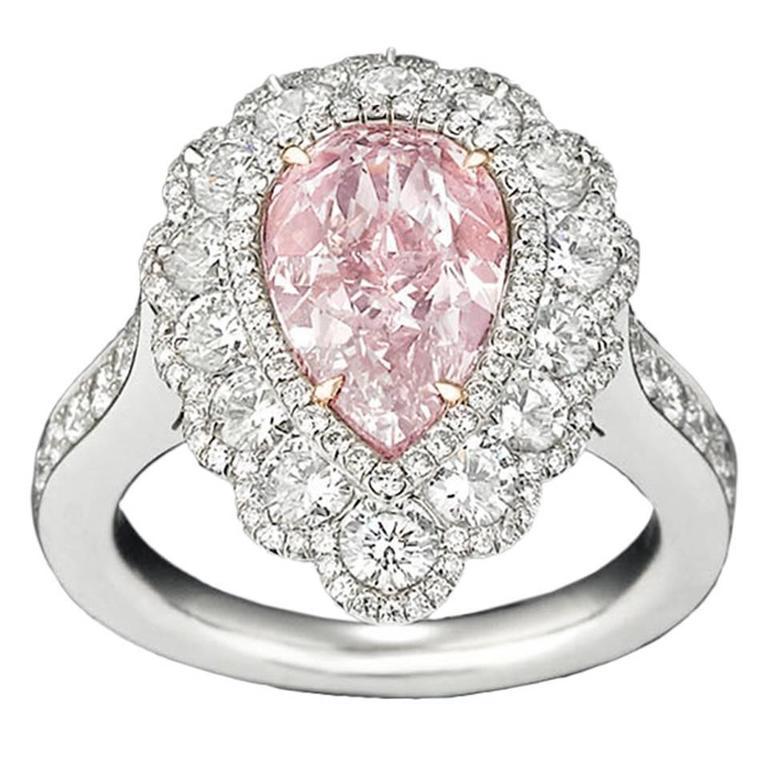 2.58 Carat Fancy Pink Diamond Ring  1