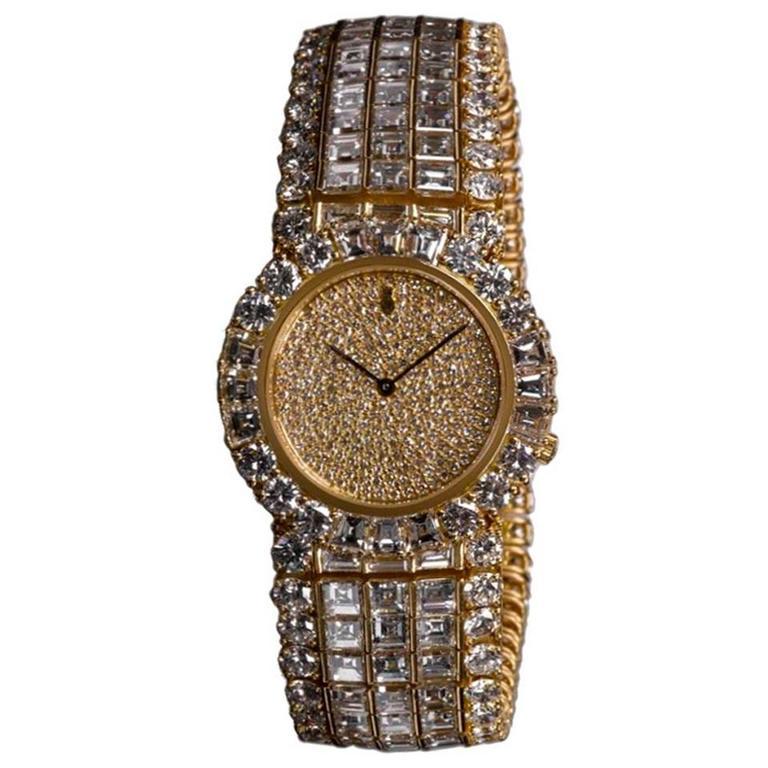 Corum Ladies Yellow Gold Diamond Quartz Wristwatch 1