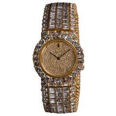 Corum Lady's Yellow Gold Diamond Bracelet Quartz Wristwatch