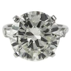 8.23 Carat Round Brilliant Cut Platinum Diamond Ring