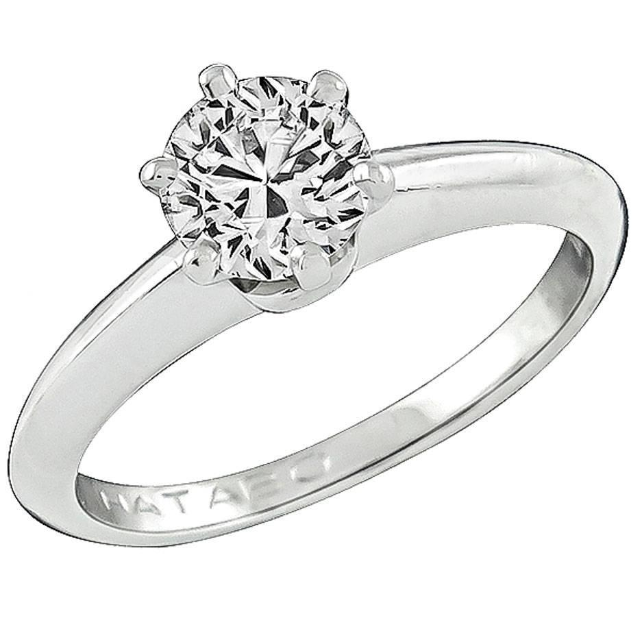 Solitaire Tiffany Bands: Tiffany And Co. Diamond Solitaire Engagement Ring For Sale