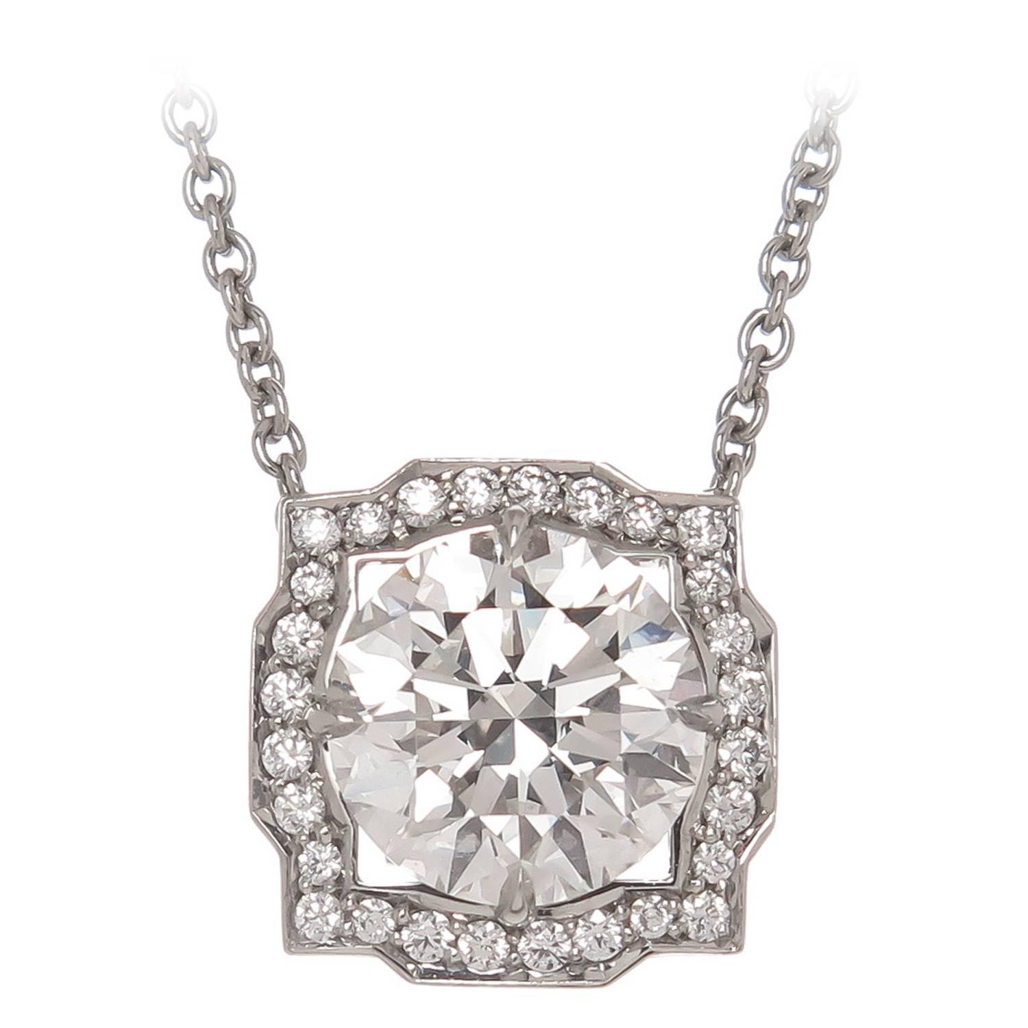 gold diamond solitaire necklace white in