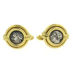 Bulgari Ancient Coin Gold Gallia-Massilia Cufflinks
