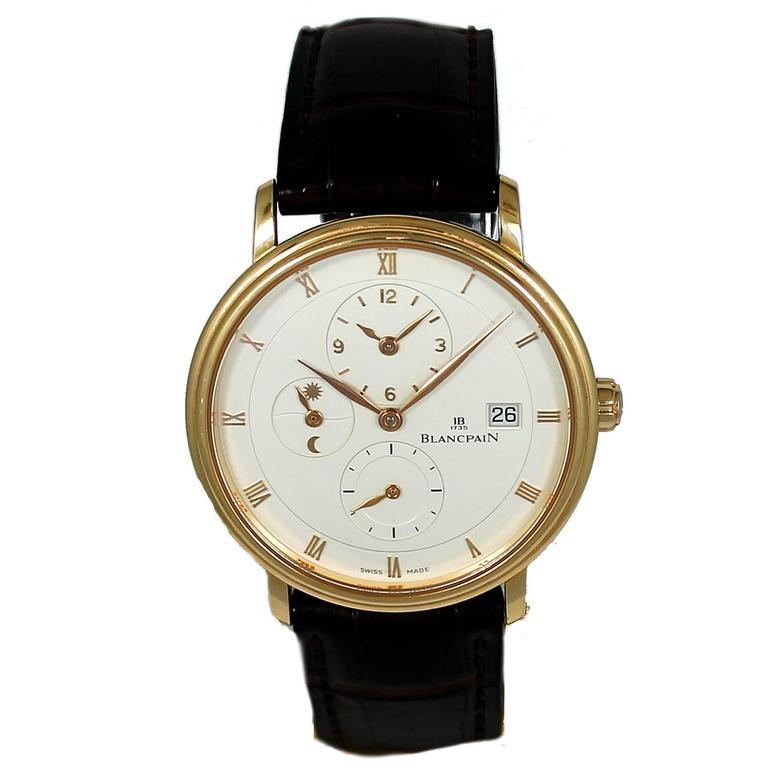 Blancpain Rose Gold Villeret Ultra Slim Dual Time Wristwatch 1