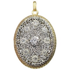 Buccellati Diamond Gold Locket Pendant