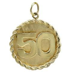 50 Gold Charm