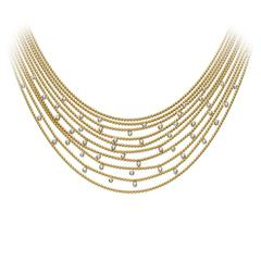 Yellow gold Cartier Draperie necklace