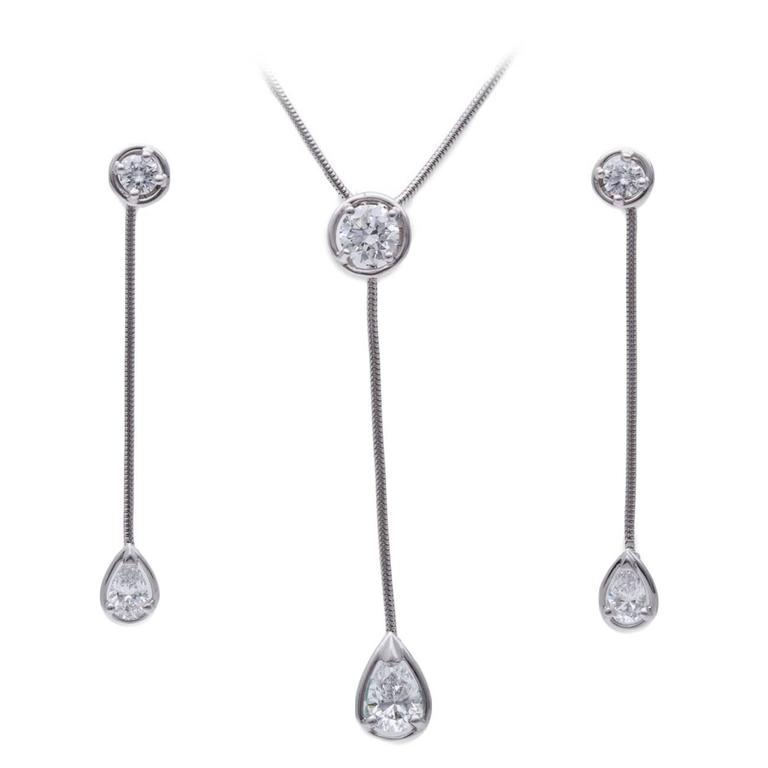 Van Cleef & Arpels Diamond Necklace and Earring Set