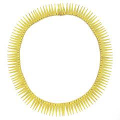 Gorgeous 1950s Gold Fringe Necklace
