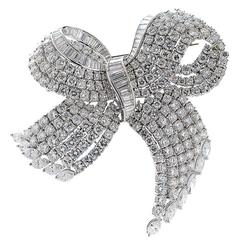 Large Diamond  Bow Pin