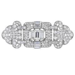 Art Deco Diamond Platinum Brooch
