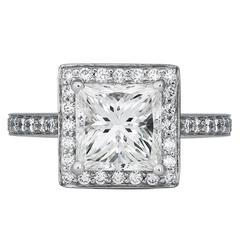 3.00 Carat Princess Cut Diamond Ring