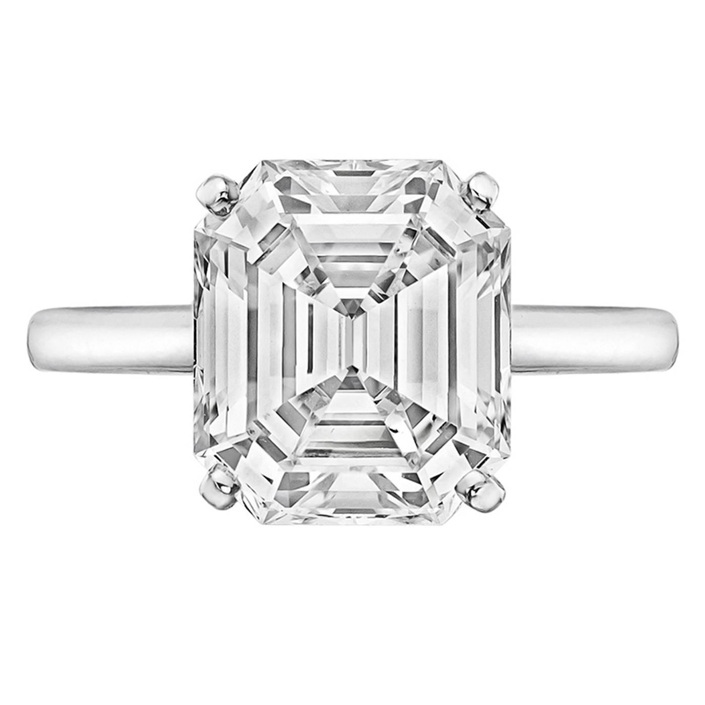 graff 4 34 carat emerald cut diamond solitaire engagement ring at