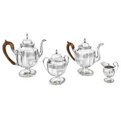 Early-American 4-Piece Silver Tea & Coffee Service