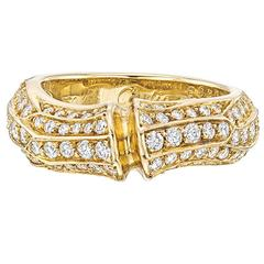 "Cartier Diamond ""Bamboo"" Band Ring"