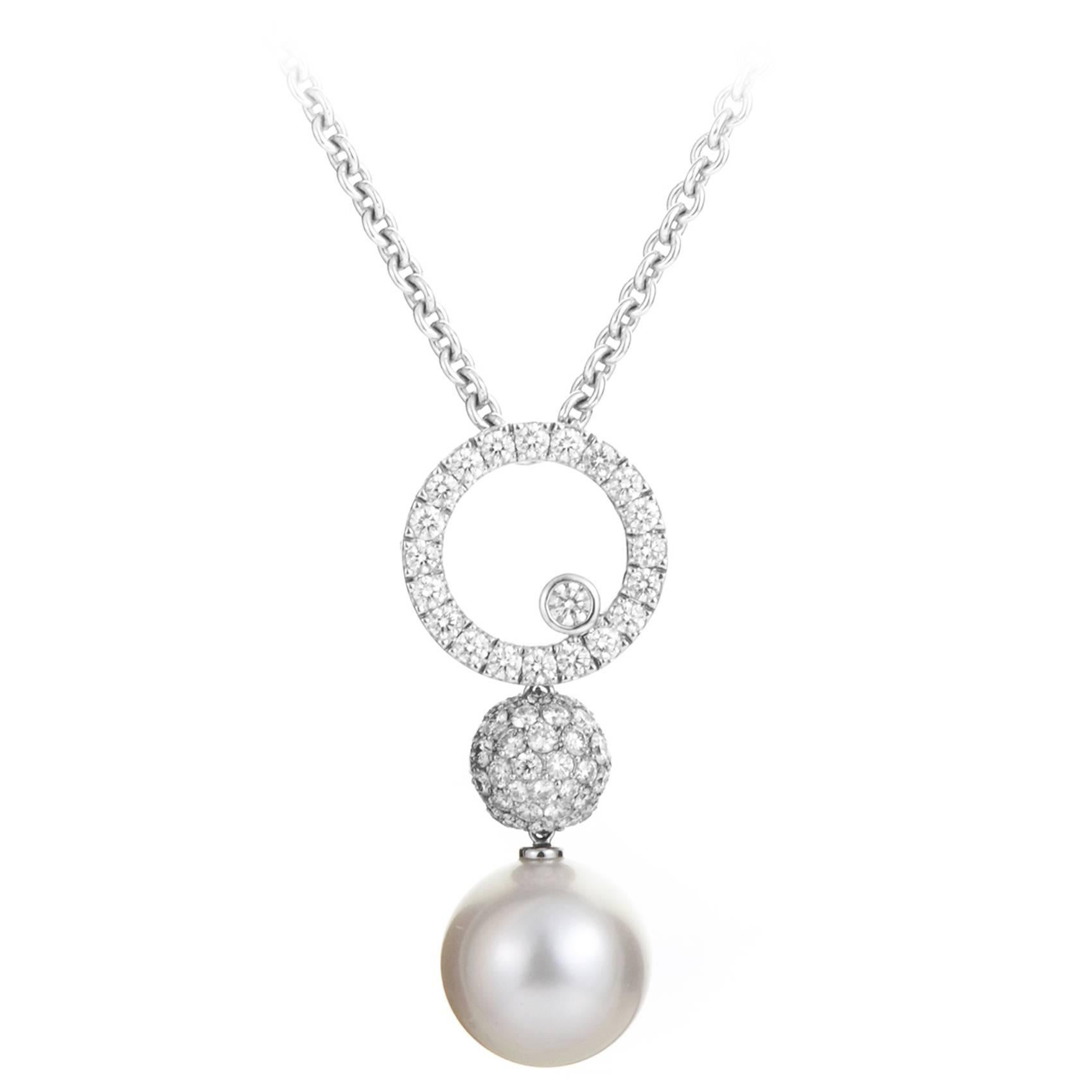 jewelry dew cultured diamond pendant akoya pearl mikimoto morning lyst necklace