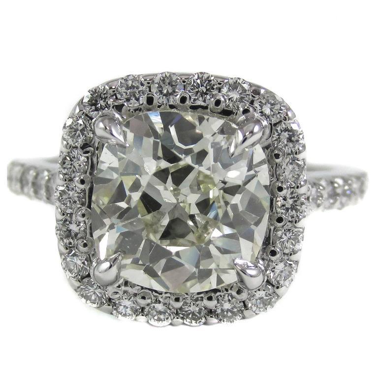 2 65 carat antique cushion gold engagement ring