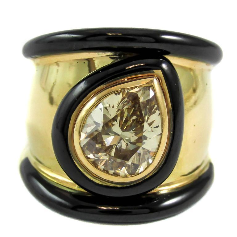 david webb enamel gold band ring at 1stdibs