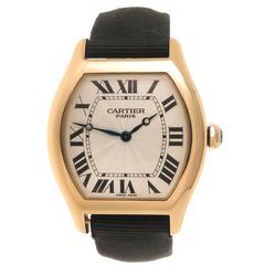 Cartier Yellow Gold Tortue Wristwatch Ref 2496C